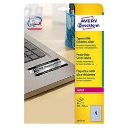 Etiqueta Avery anti-fraude 45,7 x 25,4 mm 20 hojas