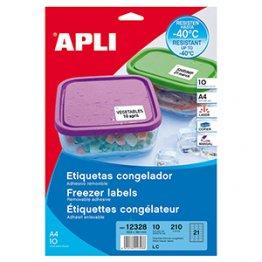 Etiqueta Apli para congelador removibles