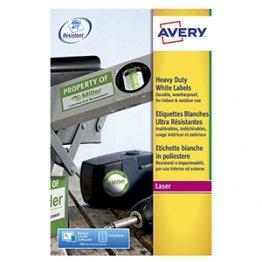Etiqueta Avery poliéster blanco 68,5 x 33,9 mm 20h/caja