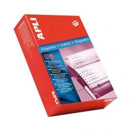 Etiquetas en continuo Apli Caja 500 pliegos. 137,2x74,1. (2000 etiquetas)