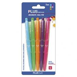 Bolígrafo Plus Soft Blister 3 colores