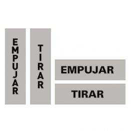 Etiquetas de señalización Apli Empujar/Tirar