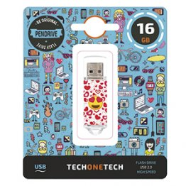 Pen drive Tech1Tech 16 Gb Heart Eyes