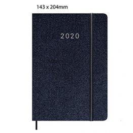 Agenda 2020 150 x 200 mm Semana Vista azul oscuro