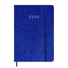 Agenda 2020 140 x 200 mm Semana Vista azul claro