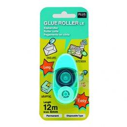 Pegamento Roller LE azul 6mm x 12m Blister 1 unid