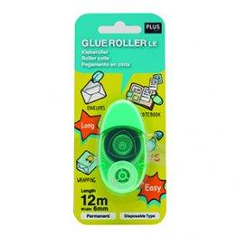 Pegamento Roller LE verde 6mm x 12m Blister 1 unid