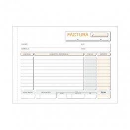 Talonario Facturas 153x109 T67 Apaisado Duplicado autocopia (50 juegos)