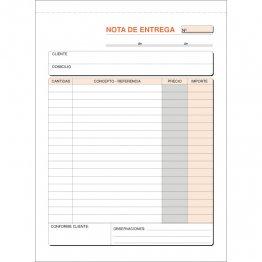 Talonario Entregas 145x207 T91 Natural Duplicado autocopia (50 juegos)