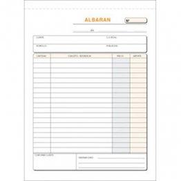 Talonario Albaranes 145x207 T122 Triplicado autocopia (50 juegos)