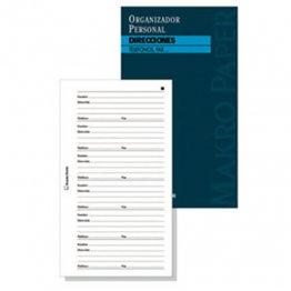 Direcciones agendas anillas Makro Paper 18x23 (20 hojas)
