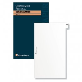 Separadores agendas anillas Makro Paper 10x14,5 (20 hojas)