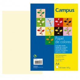 Papel color Campus A4 Marfil 100h 80gr