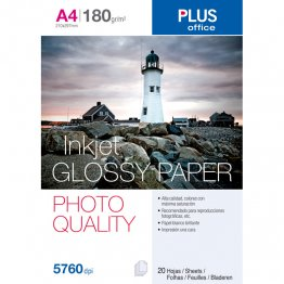 Papel fotográfico Glossy Paper Photo Quality A4 5760 dpi 180gr 20h
