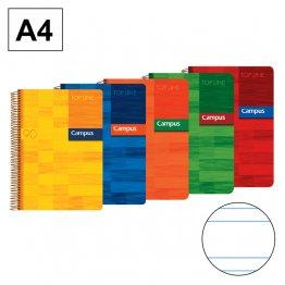 Bloc A4 80h 90gr Tapa Polipropileno Pauta 2,5mm