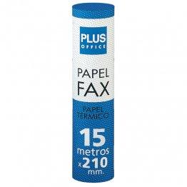 Rollo papel térmico Plus Office para fax 210mm x 15m Mandril 12