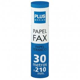 Rollo papel térmico Plus Office para fax 210mm x 30m Mandril 12