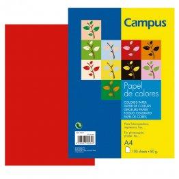 Papel color Campus A4 Rojo 100h 80gr
