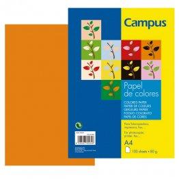 Papel color Campus A4 Naranja 100h 80gr