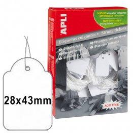 Etiquetas colgantes Apli 28x43mm (500u./envase)