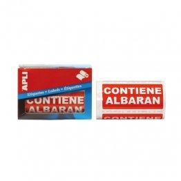 Etiquetas de envío Apli 50x100 Contiene Albarán (rollo 200 eti)