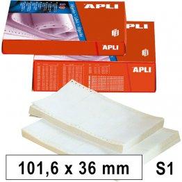 Etiquetas en continuo Apli Caja 500 pliegos. 101,6x36. (4000 etiquetas)