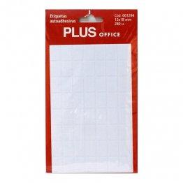 Etiquetas autoadhesivas Plus Office 12x18 Sobre 5h (280 etiq)