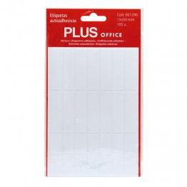 Etiquetas autoadhesivas Plus Office 13x50 Sobre 5h (105 etiq)