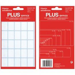 Etiquetas autoadhesivas Plus Office 19x27 Sobre 5h (125 etiq)
