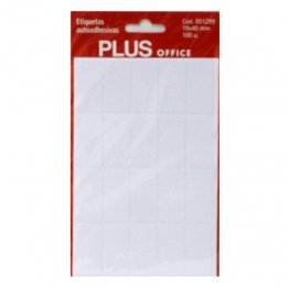 Etiquetas autoadhesivas Plus Office 19x40 Sobre 5h (100 etiq)