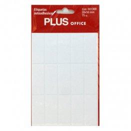 Etiquetas autoadhesivas Plus Office 20x50 Sobre 5h (75 etiq)