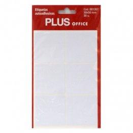 Etiquetas autoadhesivas Plus Office 50x50 Sobre 5h (30 etiq)