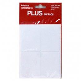 Etiquetas autoadhesivas Plus Office 50x70 Sobre 5h (20 etiq)