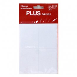 Etiquetas autoadhesivas Plus Office 53x82 Sobre 5h (20 etiq)