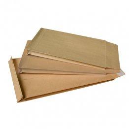Bolsa kraft marrón armado con fuelle 50mm 280x365 Caja 50 unid
