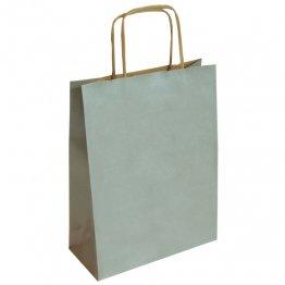 Bolsa de papel Kraft Plata mediana