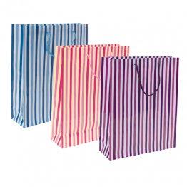Bolsa de papel rayas pequeña