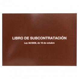LIBRO SUBCONTRATACION CASTELLANO MIQUELRIUS FOLIO NATURAL JUEGO DE 10 HOJAS AUTOCOPIATIVAS