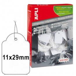 Etiquetas colgantes Apli 11x29mm (1000u./envase)