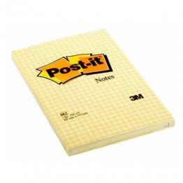 Blocs notas reposicionables Post-it gran formato Amarillo Cuadriculado