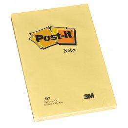 Blocs notas reposicionables Post-it gran formato Amarillo Liso