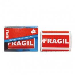 Etiquetas de envío Apli 50x100 Frágil (rollo 200 eti)