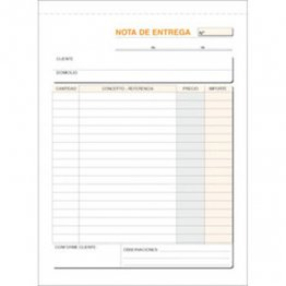 Talonario Entregas 145x207 T92 Natural Triplicado autocopia (50 juegos)