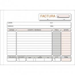 Talonario Facturas 207x145 T64 Apaisado Duplicado autocopia (50 juegos)