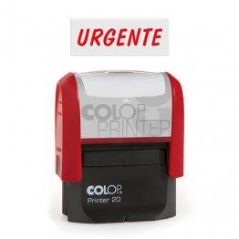 "Sello entintaje automático Colop Printer 20 ""Urgente"" Rojo"