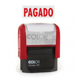 "Sello entintaje automático Colop Printer 20 ""Pagado"" Azul"