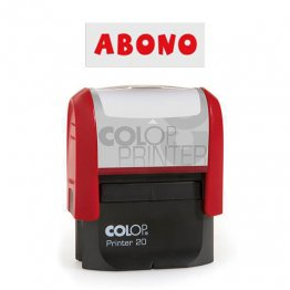 "Sello entintaje automático Colop Printer 20 ""Abono"" Rojo"