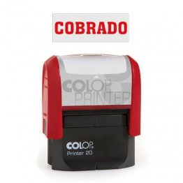"Sello entintaje automático Colop Printer 20 ""Cobrado"" Rojo"