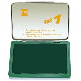 Almohadillas para sellar Plus Office Nº 1 Verde 140x100mm