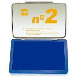Almohadillas para sellar Plus Office Nº 2 Azul 80x125mm